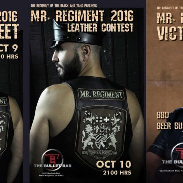 Mr. Regiment 2016 Leather Contest Weekend Begins Tonight